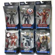Marvel Legends Series: Captain America - Civil War with Ant-Man BAF (Complete set of 6)