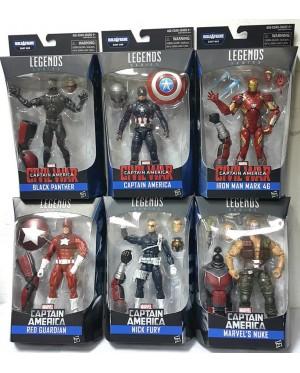 Marvel Legends Series: Captain America - Civil War with Ant-Man BAF (Complete set of 6)