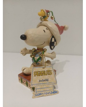 Enesco : Peanuts by Jim Shore - Snoopy and Woodstock with Jingle Bells