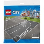 LEGO City 7281 T-Junction & Curved Road Plates