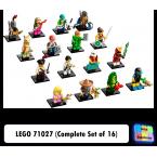 LEGO Minifigures 71027 (Complete Set of 16)