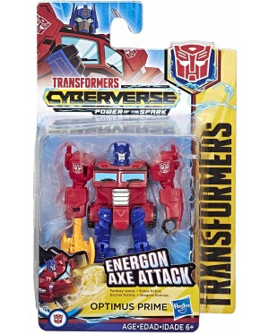 Hasbro Transformers Cyberverse : Power Of The Spark - Optimus Prime Energon Axe Attack ( Scout Class )