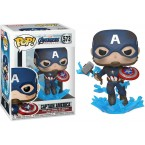 FUNKO POP! Vinyl Marvel: Avengers Endgame - Captain America with Broken Shield & Mjolnir (45137)