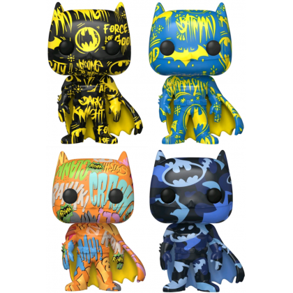 FUNKO POP! Vinyl Heroes: DC - Batman (Artist Series) (Case Included) (IE) (Set of 4)