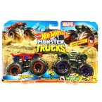 Hot Wheels Monster Trucks Spider-man Vs Venomized Hulk (Demolition Doubles)