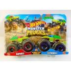 Hot Wheels Monster Trucks TMNT Raphael Vs Leonardo (Demolition Doubles)