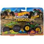 Hot Wheels Monster Trucks A51 Patrol Vs Test Subject (Demolition Doubles)