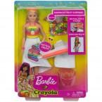 Mattel Barbie Crayola Rainbow Fruit Surprise Blonde Hair Doll