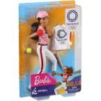 Mattel Barbie Olympic Games Doll Tokyo 2020 (Softball Uniform)