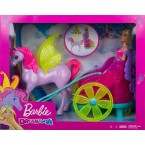 Mattel Barbie Dreamtopia Princess with Fantasy Horse and Chariot