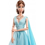 Mattel Barbie Fashion Model Collection: Blue Chiffon Ball Gown Doll