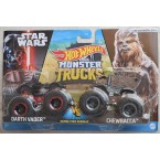 Hot Wheels Monster Trucks Darth Vader Vs Chewbacca (Demolition Doubles)