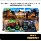 Hot Wheels Monster Trucks Motosaurus Vs Mega Wrex (Demolition Doubles)