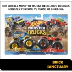 Hot Wheels Monster Trucks Monster Portion Vs Sriracha (Demolition Doubles)