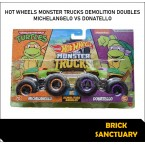 Hot Wheels Monster Trucks Michelangelo Vs Donatello (Demolition Doubles)