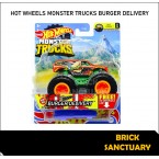 Hot Wheels Monster Trucks Burger Delivery 27/75 (1/6 Fast Foodie)