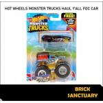 Hot Wheels Monster Trucks Haul Y'all & Crushed Wagon Flat Iron