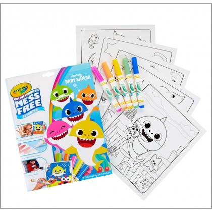 CRAYOLA Color Wonder Mess Free Coloring Pages & Markers - Baby Shark