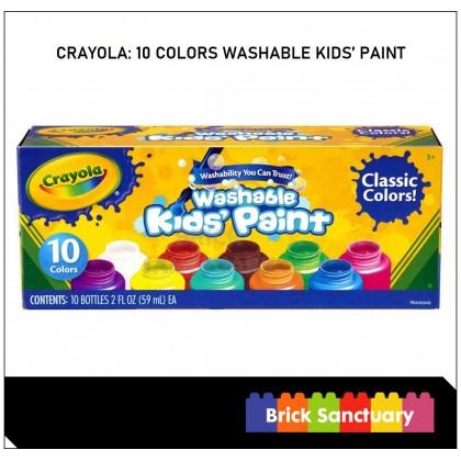 CRAYOLA 10 Colors 2oz Washable Kids Paint