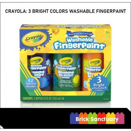 CRAYOLA 3 Count 8oz Washable Fingerpaint Secondary Colors