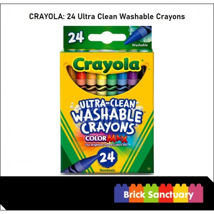 CRAYOLA 24 Count Colors Ultra-Clean Washable Crayons