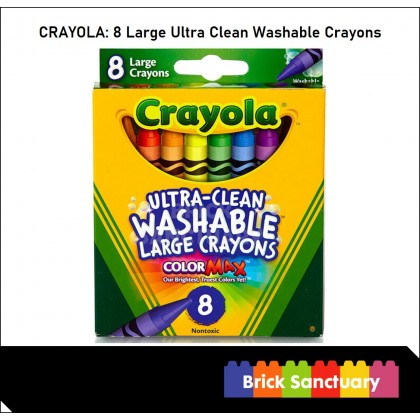 CRAYOLA 8 Count Colors Ultra-Clean Washable Large Crayons