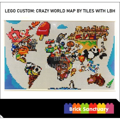 LEGO Custom: Crazy Map by Tiles With LBH