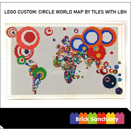 LEGO Custom: Circle Map by Tiles With LBH
